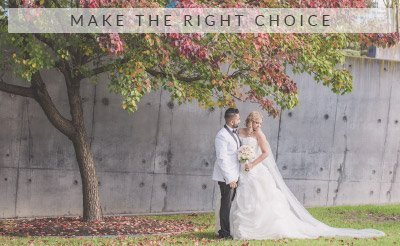 Melbourne Wedding Photography Make the right choice button