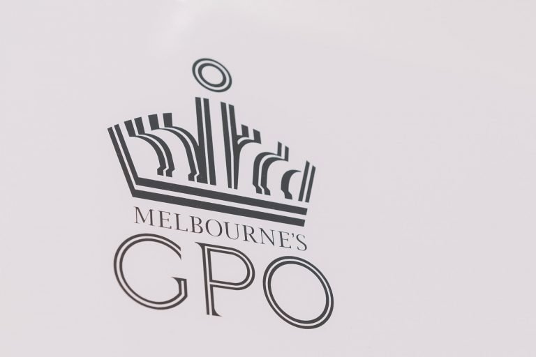 A sign saying Melbourne's GPO