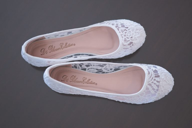 Melbourne wedding photography, a brides flat shoes