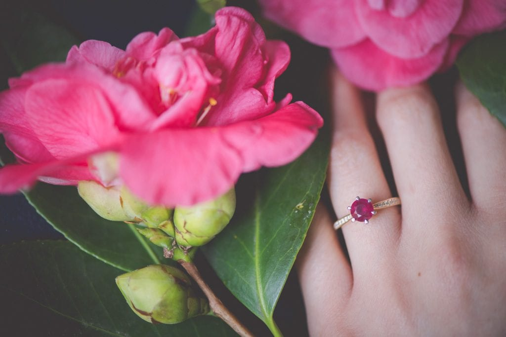 Gorgeous engagement ring.
