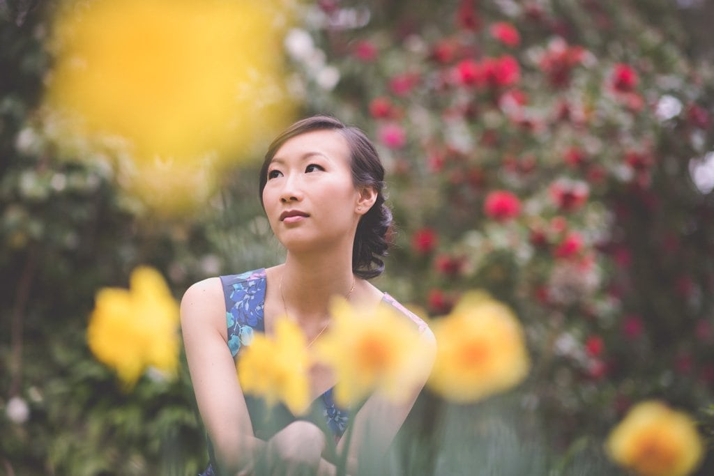 Beautiful spring engagement photography