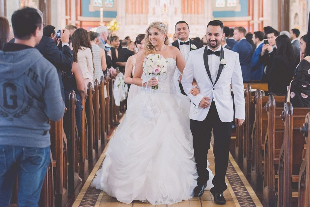 Melbourne Wedding Photography Just Married Aisle Couple Married Bouquet Wedding Party