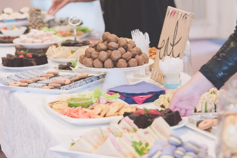Refreshments for guests at a Melbourne Wedding