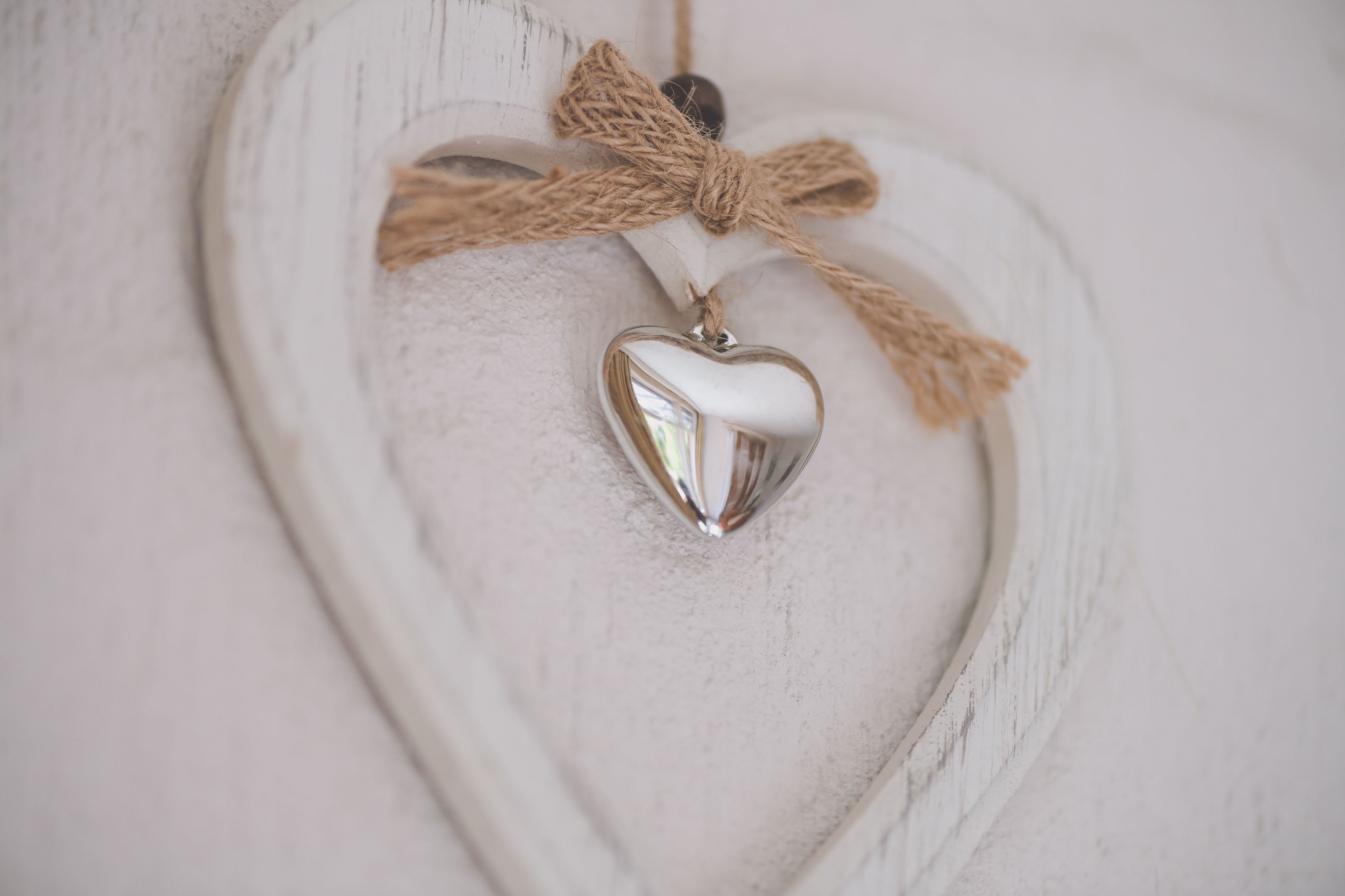 Wedding Photography Melbourne by Pause The Moment - A love heart decoration at a bride's house on her wedding day - Paringa Estate Wedding Photographer