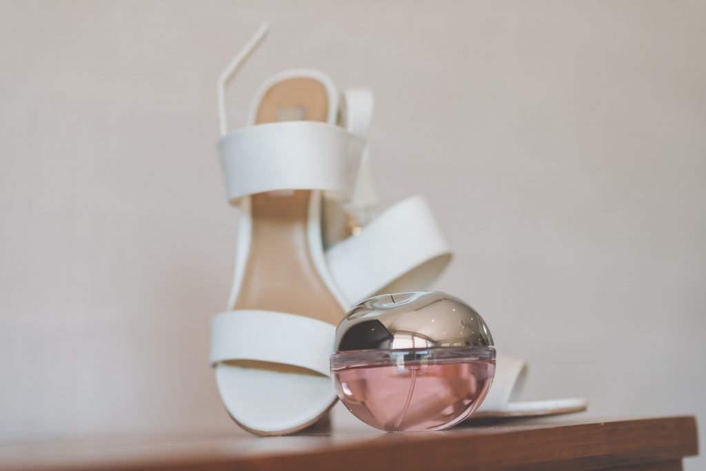 Wedding Photography Melbourne by Pause The Moment - Wedding shoes and a scented candle - Paringa Estate Wedding Photographer