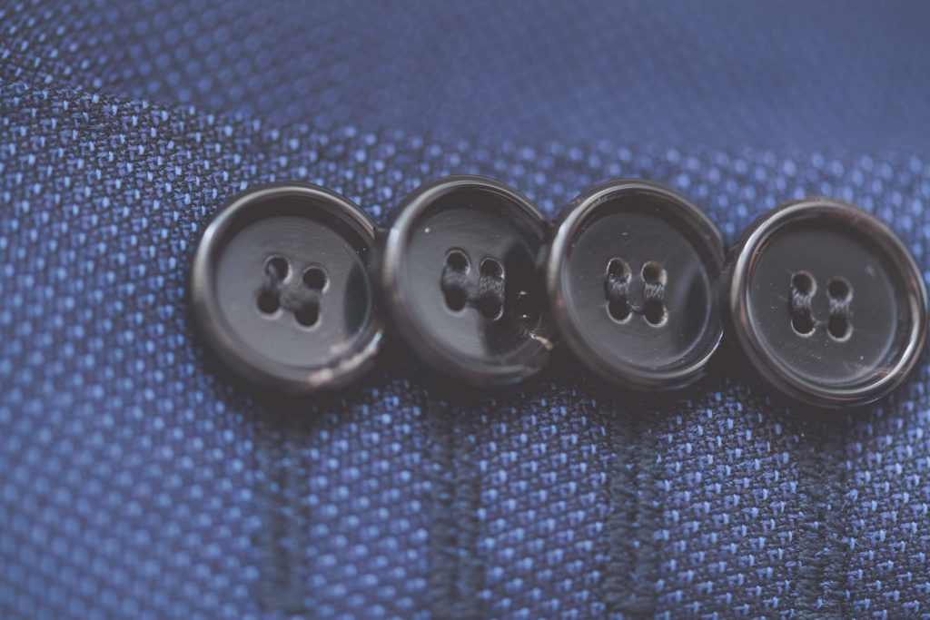 Wedding Photography Melbourne by Pause The Moment - A close up of some Hugo Boss wedding suit buttons - Paringa Estate Wedding Photographer