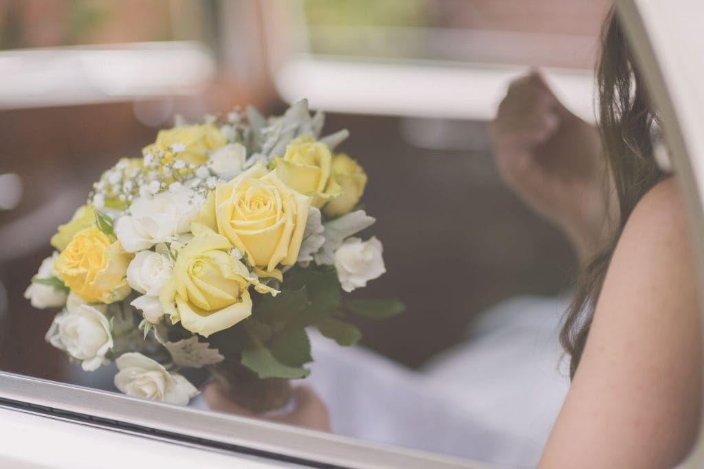 Wedding Photography Melbourne by Pause The Moment - A bride holds her flowers at a Melbourne wedding - Paringa Estate Wedding Photographer