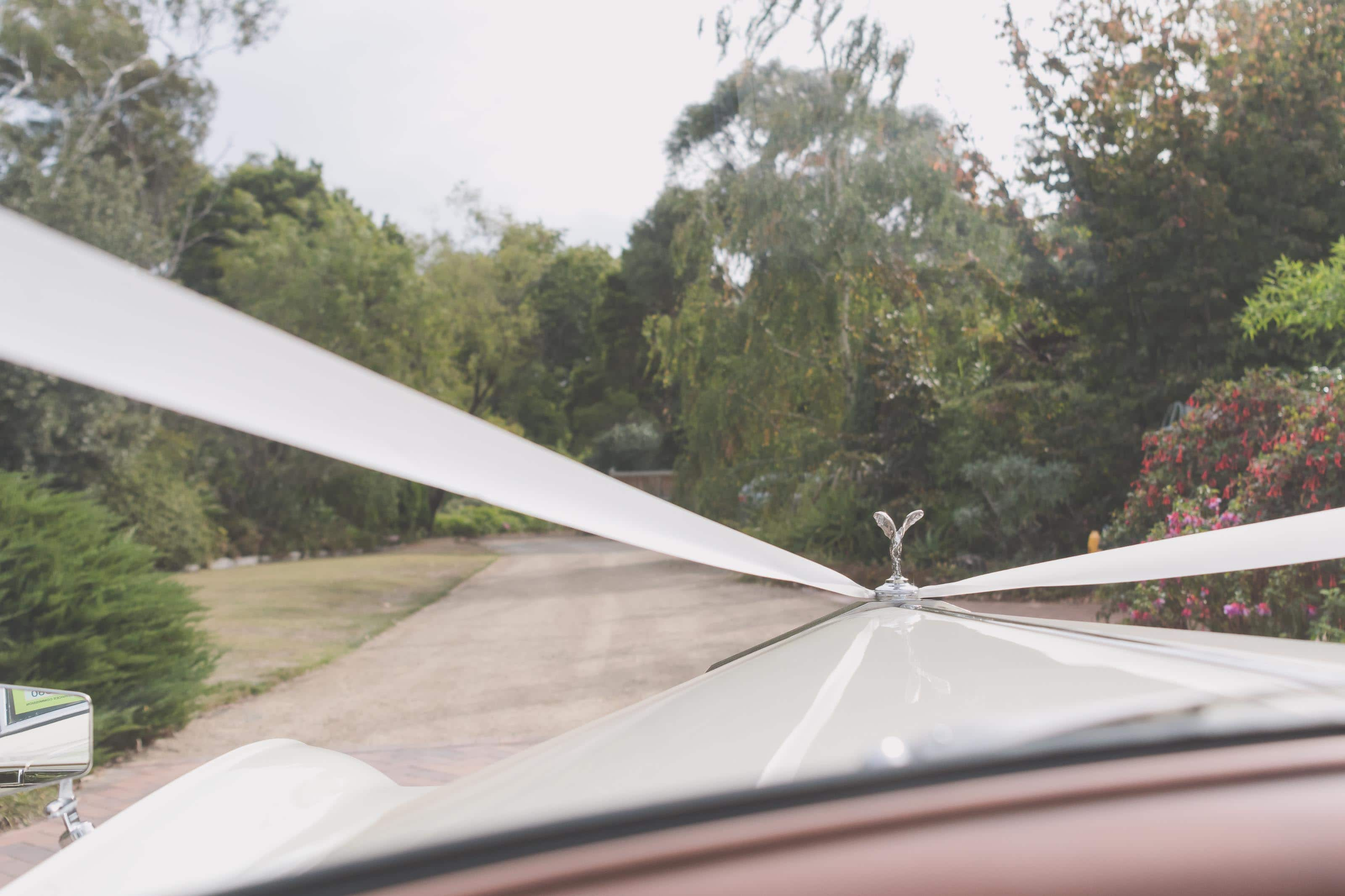 Wedding Photography Melbourne by Pause The Moment - The view from the front seat of a Rolls Royce - Paringa Estate Wedding Photographer