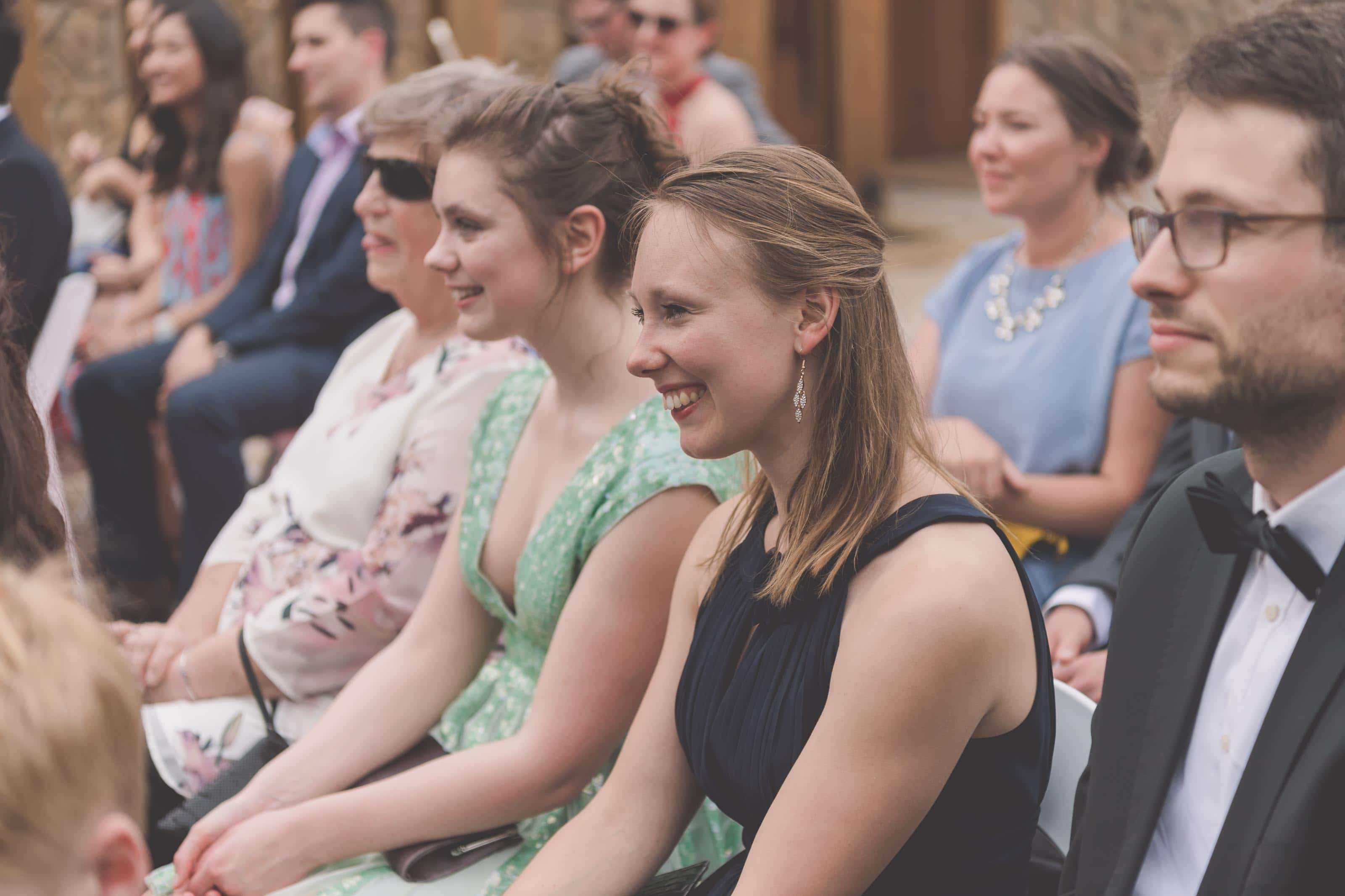 Wedding Photography Melbourne by Pause The Moment - Guests smiling at a wedding - Paringa Estate Wedding Photographer