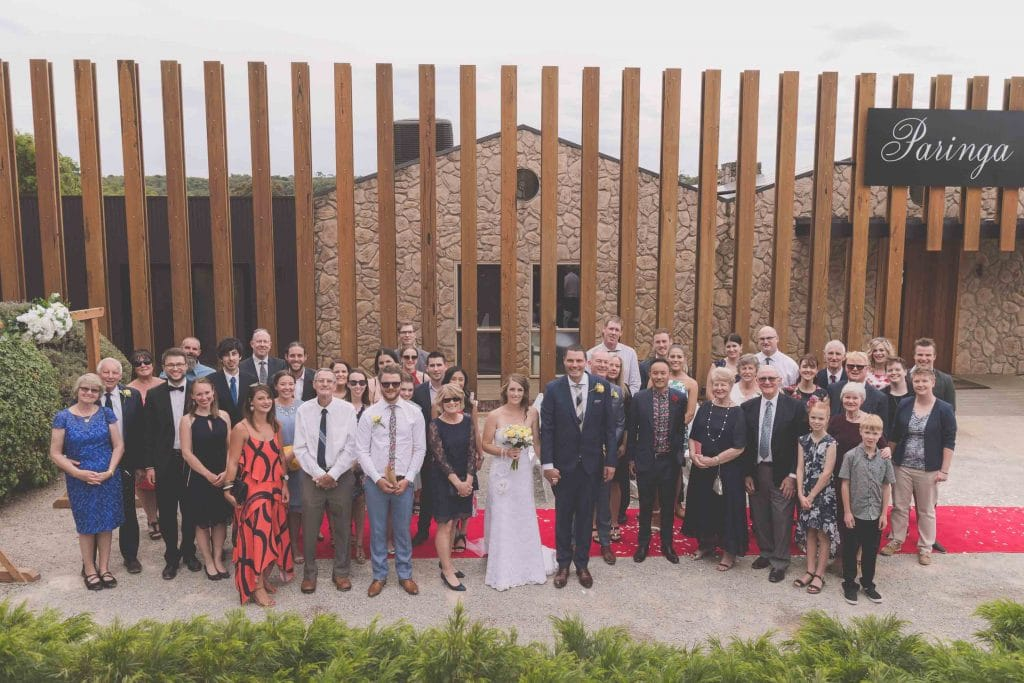 Wedding Photography Melbourne by Pause The Moment - Group shot of a Melbourne wedding - Paringa Estate Wedding Photographer
