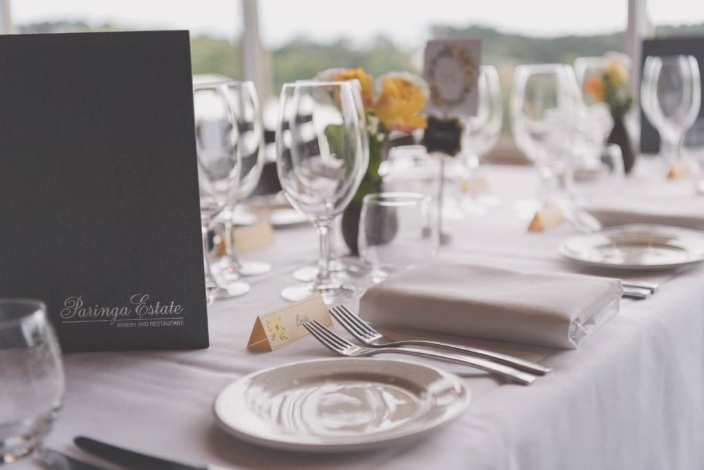 Wedding Photography Melbourne by Pause The Moment - A table setting - Paringa Estate Wedding Photographer