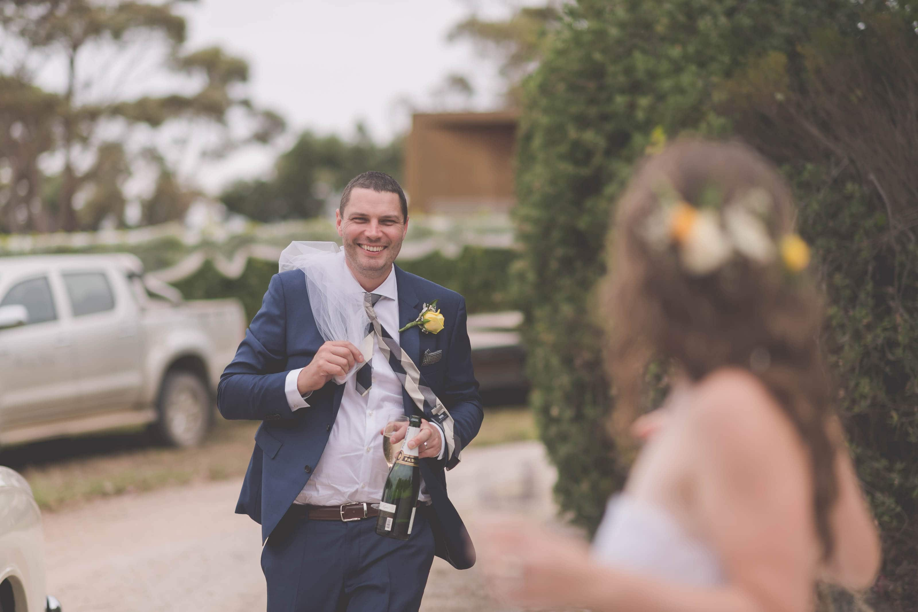 Wedding Photography Melbourne by Pause The Moment - Candid Melbourne wedding Photography of a groom - Paringa Estate Wedding Photographer