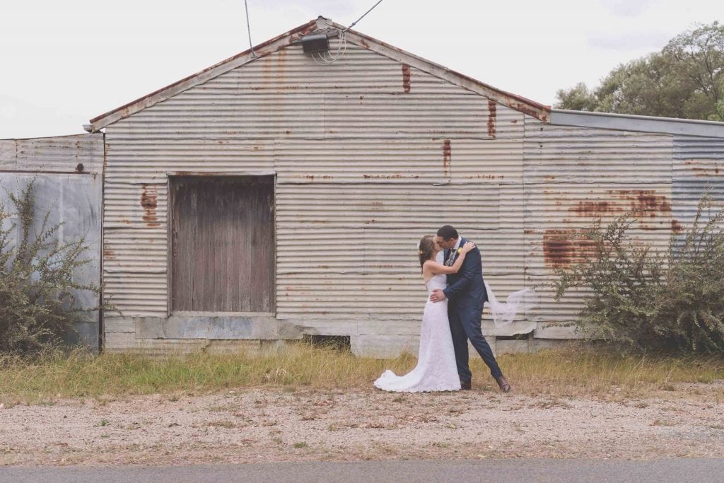 Wedding Photography Melbourne by Pause The Moment - Gorgeous Dramatic Melbourne wedding photography outside a barn - Paringa Estate Wedding Photographer
