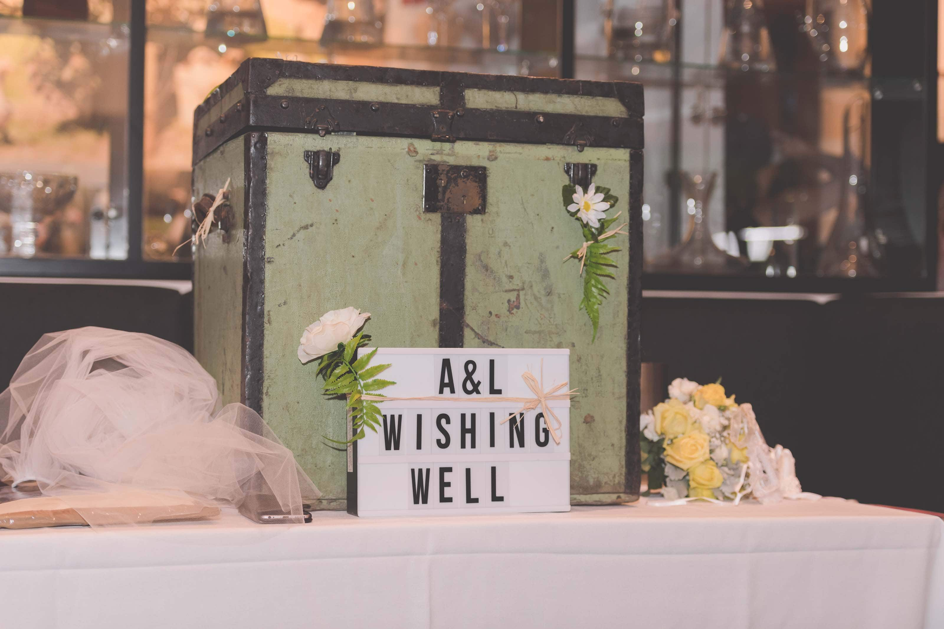 Wedding Photography Melbourne by Pause The Moment - A rustic gift box at a wedding - Paringa Estate Wedding Photographer