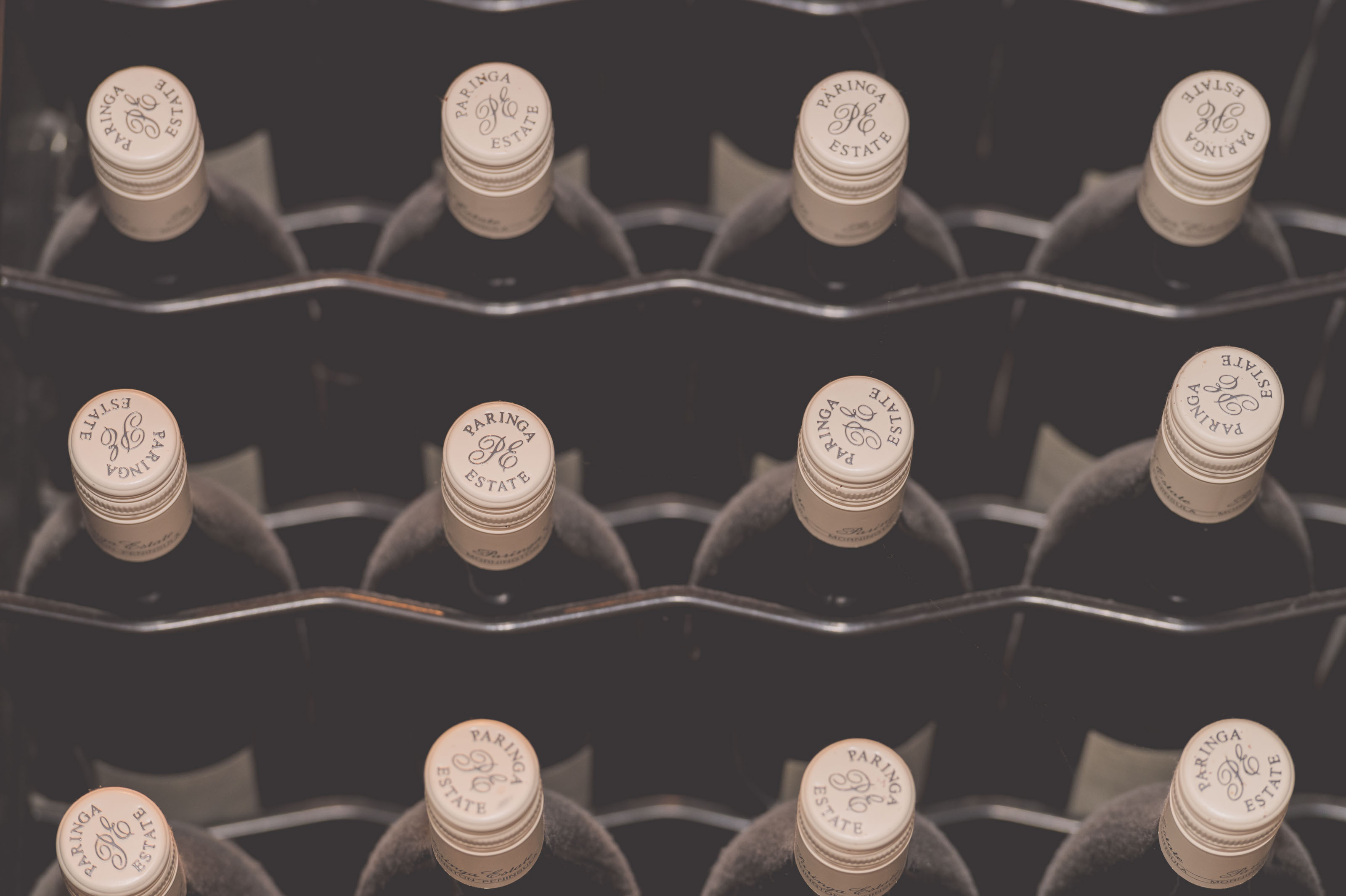 Wedding Photography Melbourne by Pause The Moment - 12 wine bottles - Paringa Estate Wedding Photographer