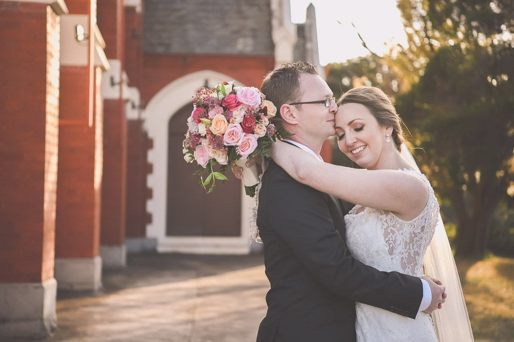 Gorgeous Melbourne wedding photography by Pause The Moment of a bride and groom at the picturesque St Joseph's Church in Elsternwick