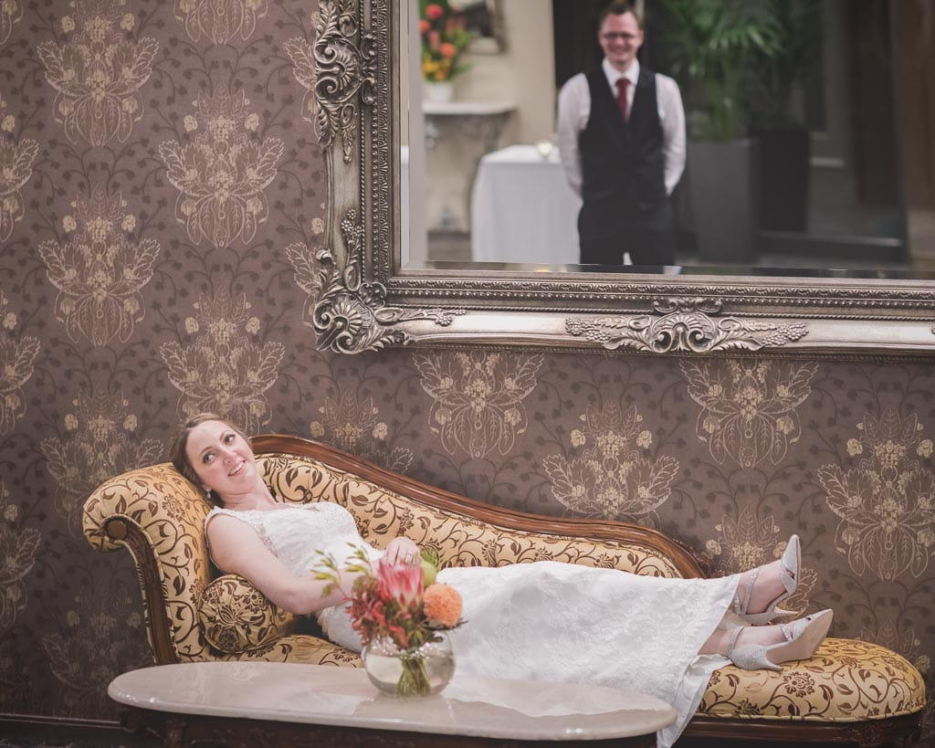 Gorgeous Melbourne wedding photography by Pause The Moment of a bride and groom towards the end of their wedding at Lincoln on Toorak