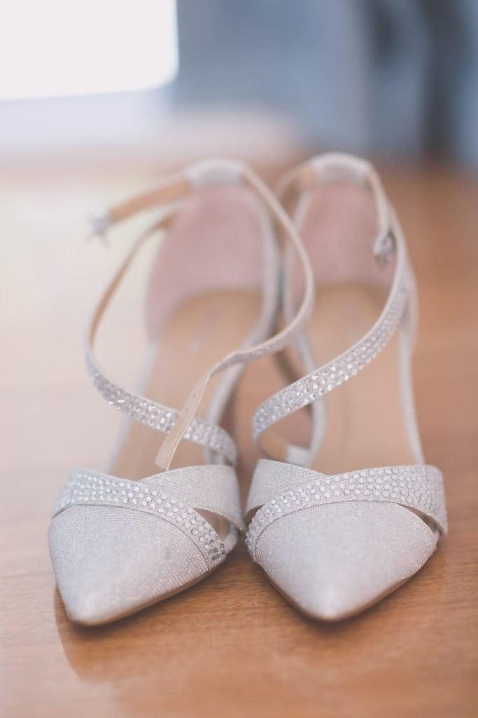 Melbourne wedding photography of the bride's shoes