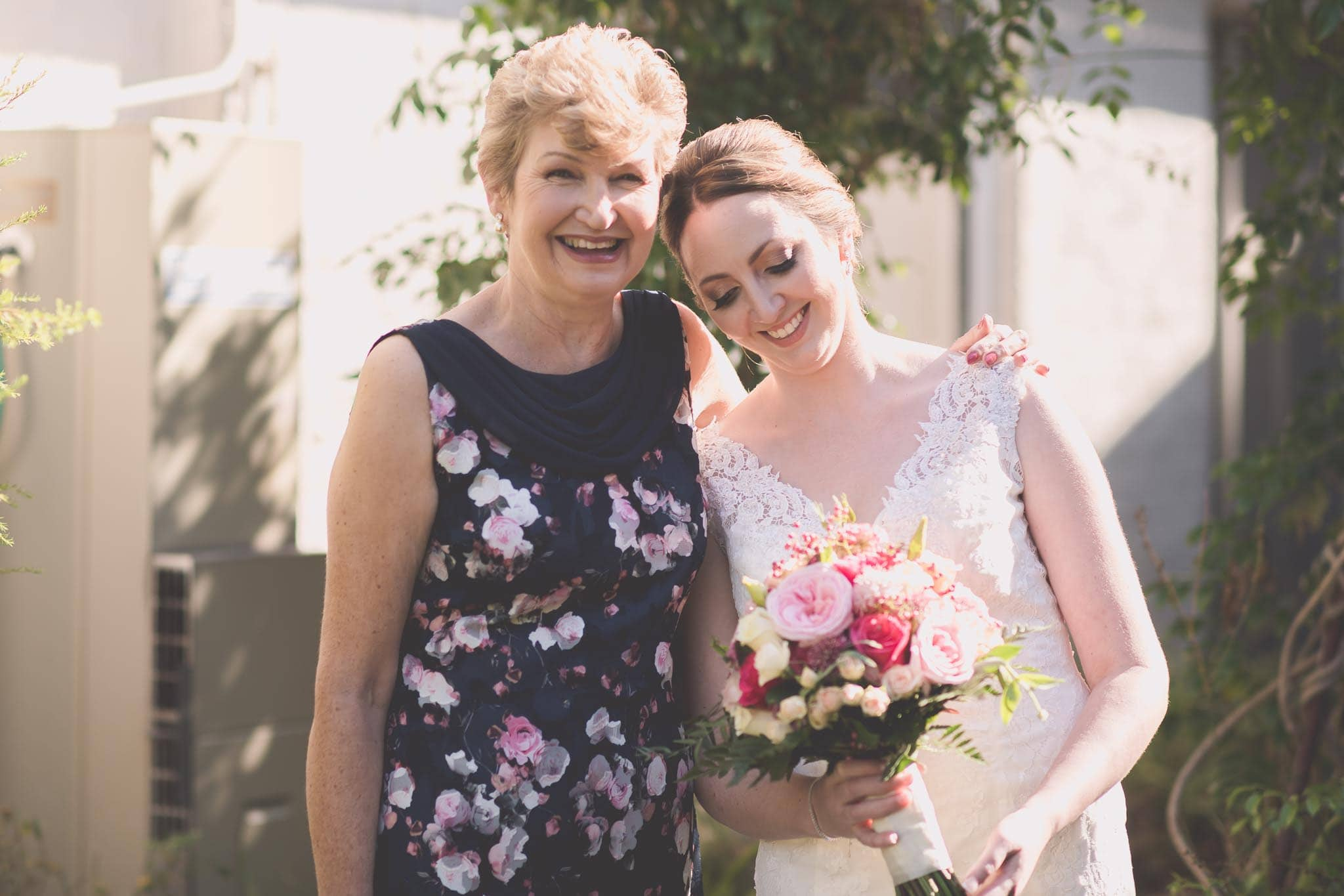 Melbourne wedding photography of the bride and her mother