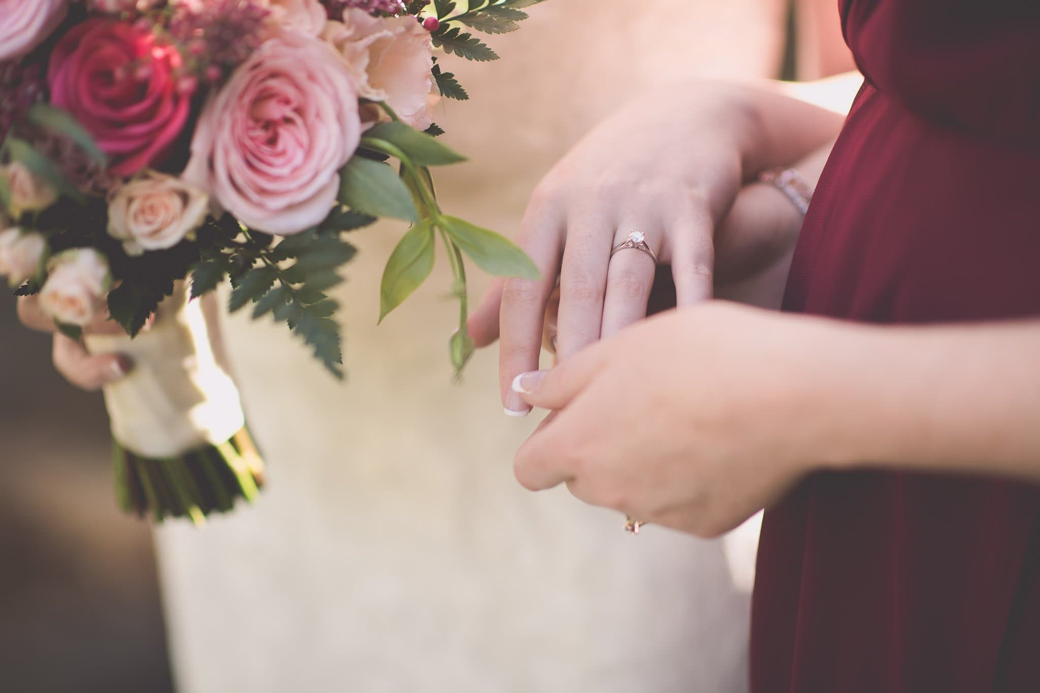 Melbourne wedding photography of the engagement ring on the bride's hand