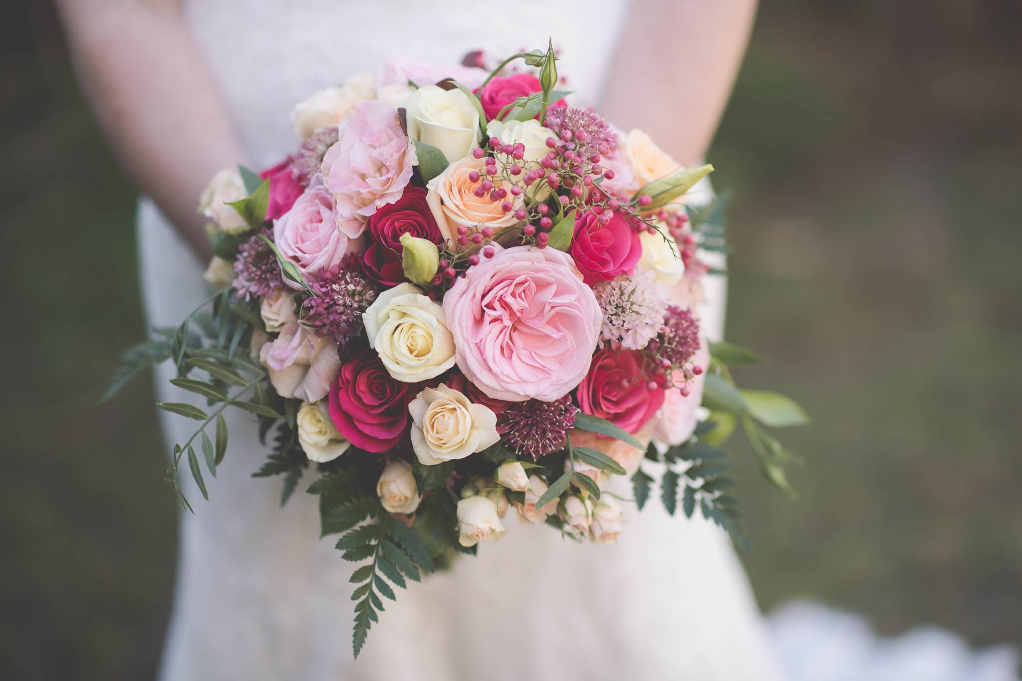 Melbourne wedding photography of the bride's bouquet