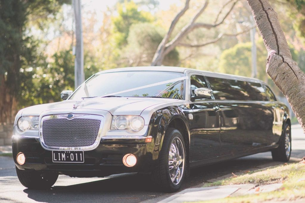 Melbourne wedding photography of the wedding car