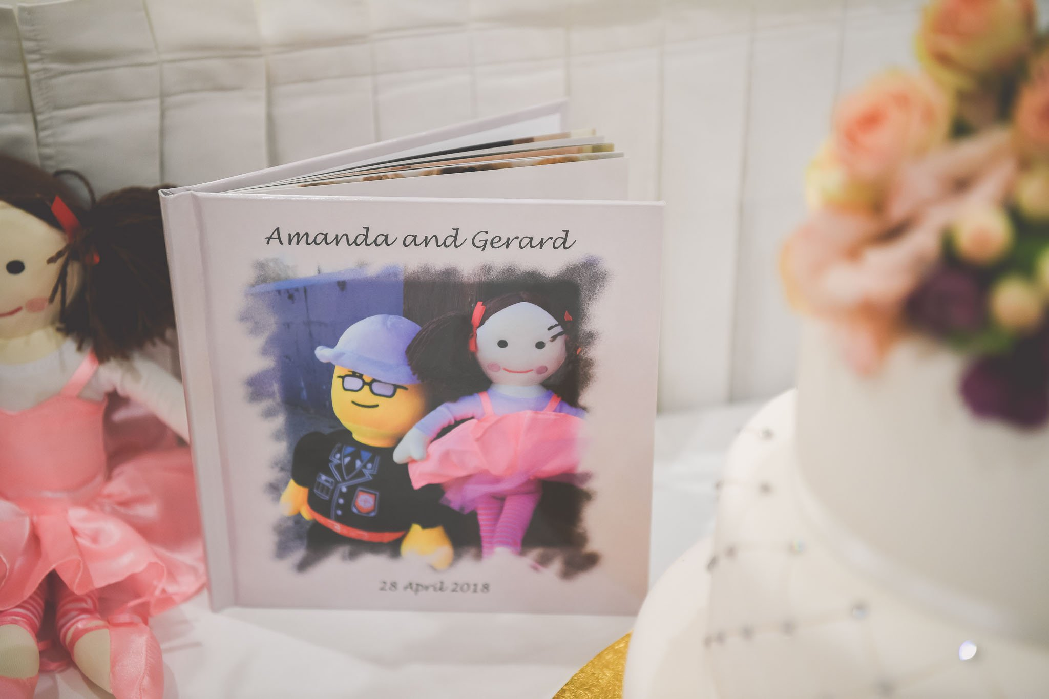 Gorgeous wedding photography of a custom book made for our bride and groom. Captured by Melbourne wedding photographer Pause The Moment