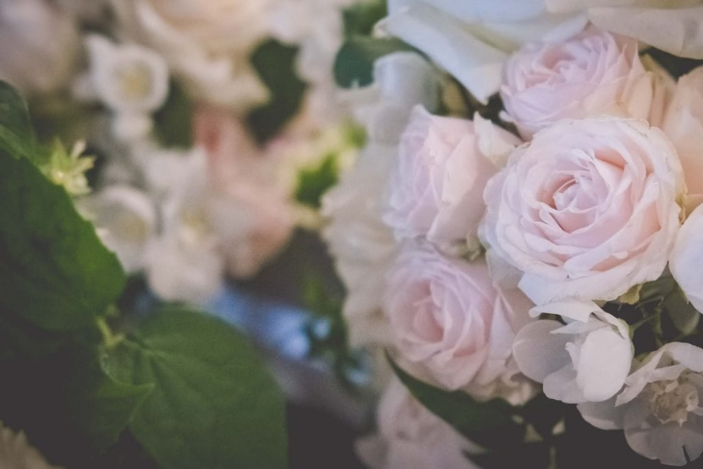 Melbourne wedding photography of some pale roses