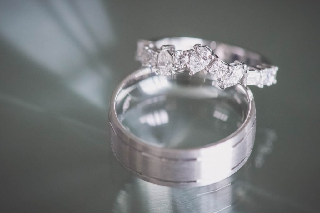 Melbourne wedding photography of some wedding rings and diamonds