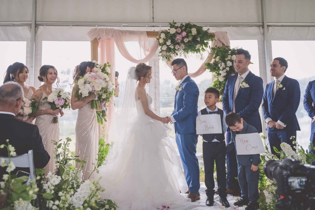Melbourne wedding photography of an Asian wet wedding ceremony