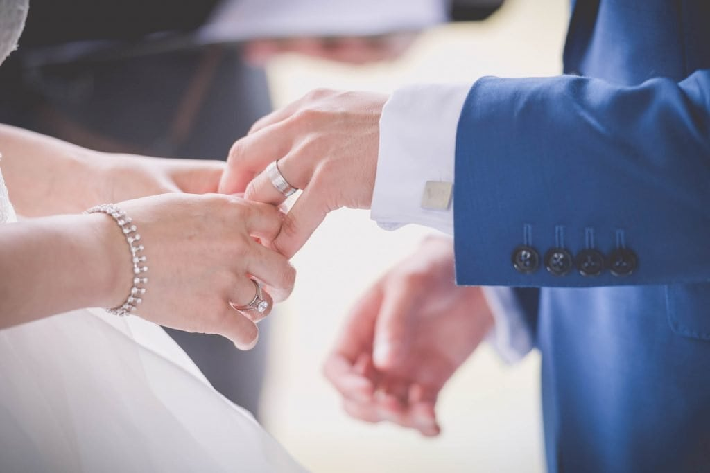 Melbourne wedding photography of the bride and groom's hands