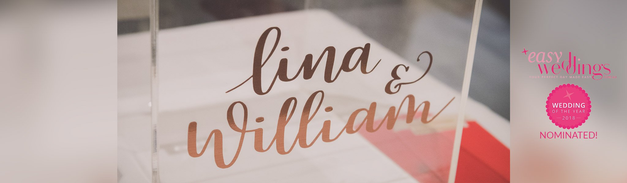 Lina and Will – Wedding of the Year Nominees!