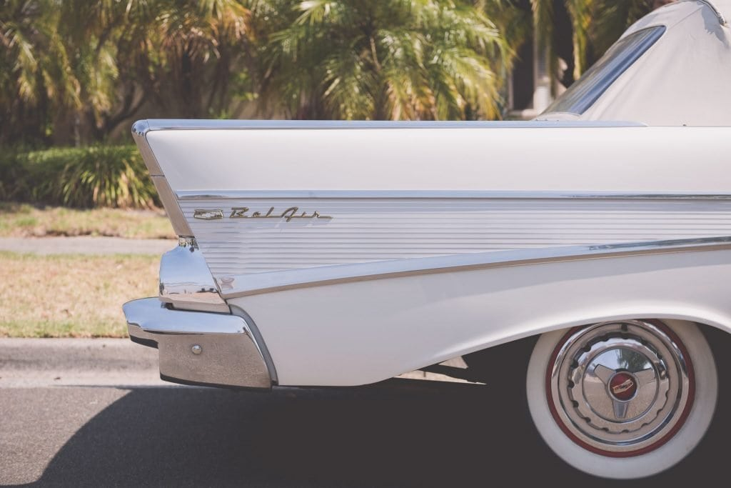 A Chevrolet Bel Air was the weapon of choice for this awesome Melbourne wedding