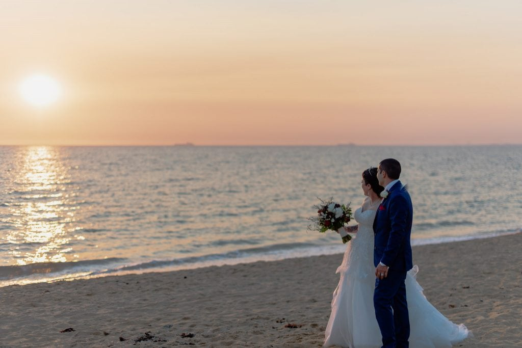 Brighton Beach wedding photography by Pause The Moment