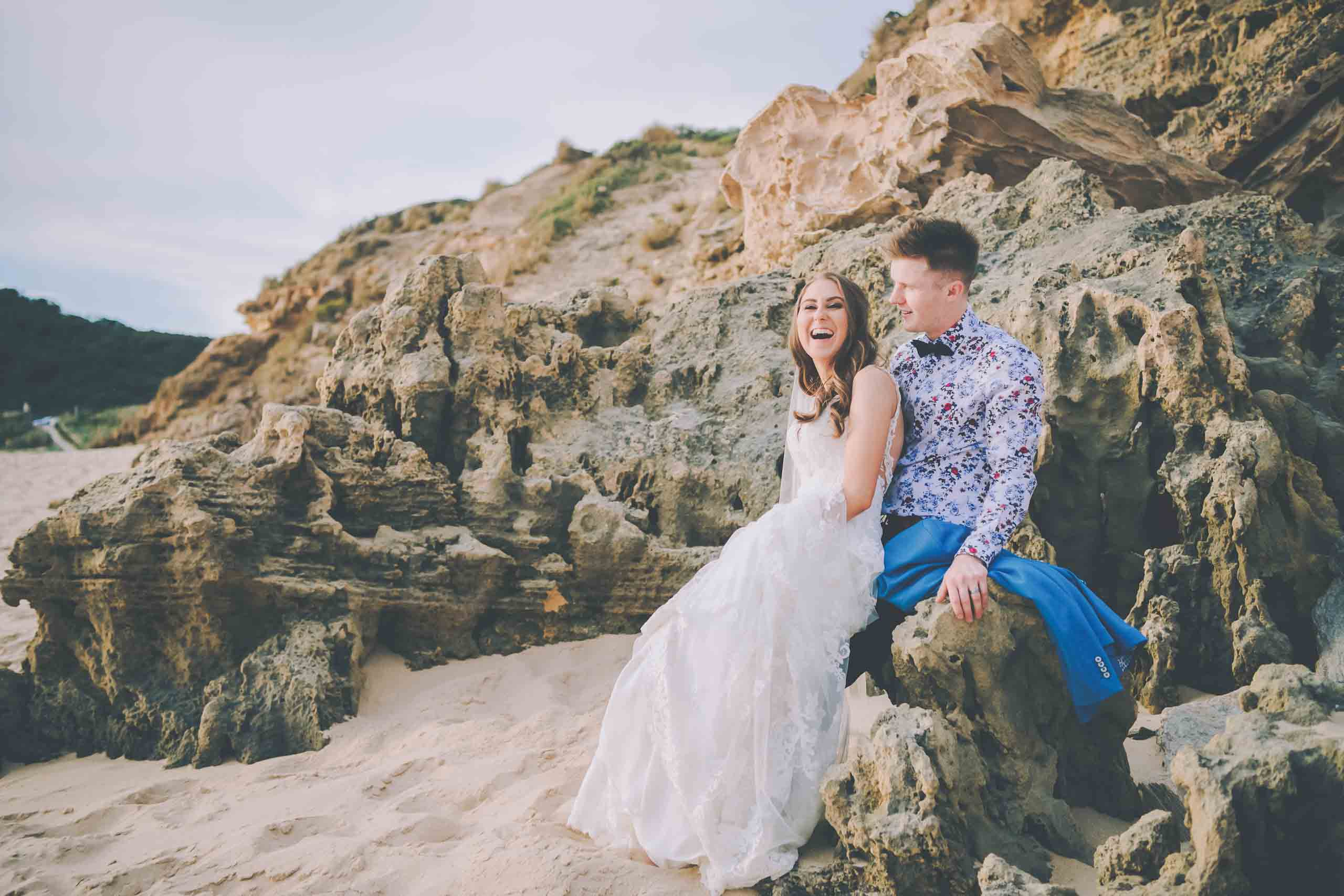 Candid beach wedding photography in Melbourne